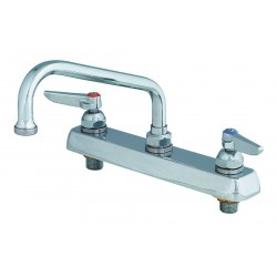 T&S Brass - B-1121 - Brass Kitchen Faucet, Manual Faucet Operation, Number of Handles: 2