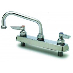 T&S Brass - B-1123 - Brass Kitchen Faucet, Manual Faucet Operation, Number of Handles: 2