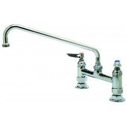 T&S Brass - B-0222 - Brass Kitchen Faucet, Manual Faucet Operation, Number of Handles: 2