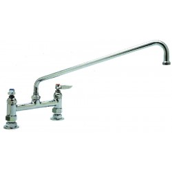 T&S Brass - B-0220 - Brass Kitchen Faucet, Manual Faucet Operation, Number of Handles: 2
