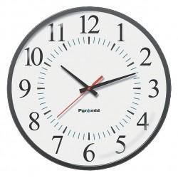 Pyramid Technologies - 9A17JG - 17 Round Wall Clock Arabic, Black ABS Plastic Frame