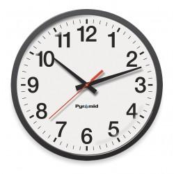 Pyramid Technologies - 9A13AE - 13-1/4 Round Wall Clock Arabic, Black ABS Plastic Frame