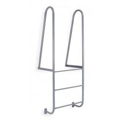 Cotterman - D3WT C1 P6 - 6 ft. Steel Fixed Ladder, Forward Exit, 300 lb. Load Capacity