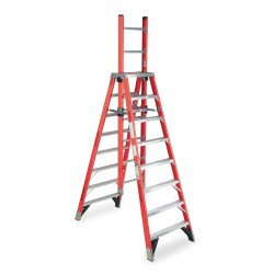 Werner - E7412 - 12 ft. 300 lb. Load Capacity Fiberglass Trestle Extension Ladder