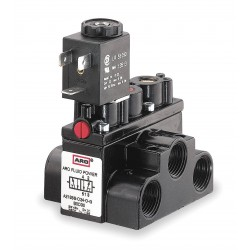 Ingersoll-Rand - A213SS-024-D - 3/8 24VDC 4-Way, 2-Position Solenoid Air Control Valve
