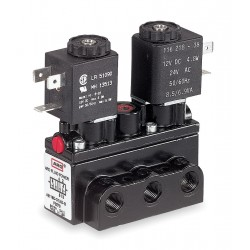 Ingersoll-Rand - A712SD-024-D - 1/4 24VDC 4-Way, 3-Position Solenoid Air Control Valve
