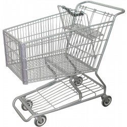 Other - RWR-PRE-348W - 40-3/4L x 22-5/8W x 41-1/8H Wire Shopping Cart, 600 lb. Load Capacity