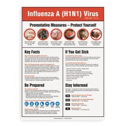 Accuform Signs - PST421 - Poster, 24x18, H1N1 Awareness