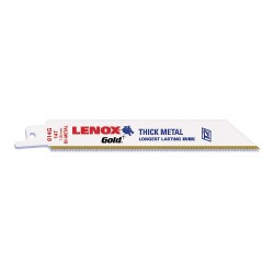"Lenox - 21081B614GR - 6"" Bi-Metal Reciprocating Saw Blade, 14 Teeth per Inch, Package Quantity 25"