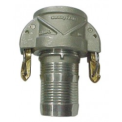 Continental Commercial - 20139588 - Aluminum Coupler with Locking Arms, Coupling Type C, Female Coupler x Hose Barb Connection Type