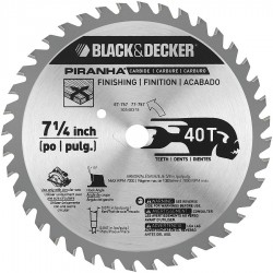 Black & Decker - 77-717 - 7-1/4 Carbide Combination Circular Saw Blade, Number of Teeth: 18