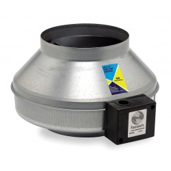 Fantech - FG6 - Galvanized Steel Inline Centrifugal Duct Fan, Fits Duct Dia. 6, Voltage 120V