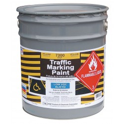 RAE Products & Chemicals - 7300-05 - Alkyd Solvent-Base Traffic Zone Marking Paint, Yellow, 5 gal.