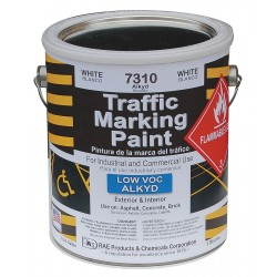 RAE Products & Chemicals - 7310-01 - Alkyd Solvent-Base Traffic Zone Marking Paint, White, 1 gal.
