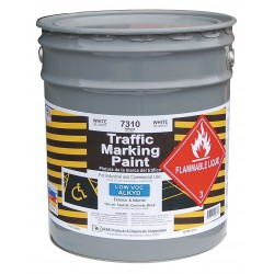 RAE Products & Chemicals - 7310-05 - Alkyd Solvent-Base Traffic Zone Marking Paint, White, 5 gal.