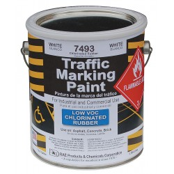 RAE Products & Chemicals - 7493-01 - Chlorinated Solvent-Base Traffic Zone Marking Paint, White, 1 gal.