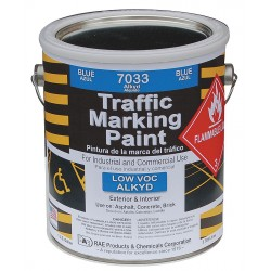 RAE Products & Chemicals - 7033-01 - Alkyd Solvent-Base Traffic Zone Marking Paint, Blue, 1 gal.