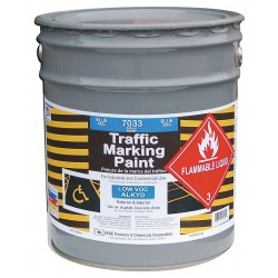 RAE Products & Chemicals - 7033-05 - Alkyd Solvent-Base Traffic Zone Marking Paint, Blue, 5 gal.