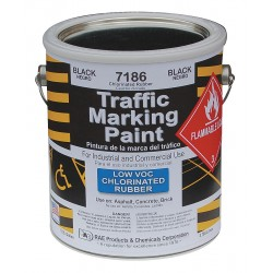 RAE Products & Chemicals - 7186-01 - Chlorinated Solvent-Base Traffic Zone Marking Paint, Black, 1 gal.