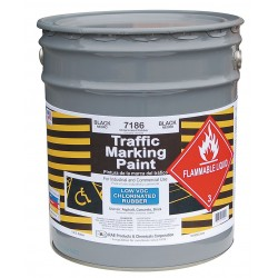 RAE Products & Chemicals - 7186-05 - Chlorinated Solvent-Base Traffic Zone Marking Paint, Black, 5 gal.