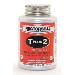 Rectorseal - 23631 - Rectorseal 23631 1/4 Pt. Can T Plus 2 Pipe Thread Sealant - 24 Pack