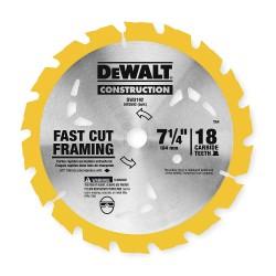 """Dewalt - DW3192 - 7-1/4"""" Carbide Ripping Circular Saw Blade, Number of Teeth: 18"""