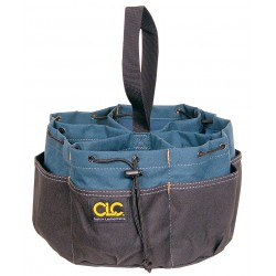 CLC (Custom Leather Craft) - 1148 - CLC BucketBag Carrying Case for Tools - Spill Resistant Bottom - 7 Height x 10 Diameter