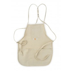 CLC (Custom Leather Craft) - C11 - Off-White Loop Neck Bib Apron, Canvas, Up to 46 Waist Size