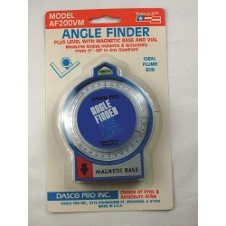Dasco Pro - AF200VM - Angle Finder, Mag, Level, 90 Deg, 2-1/4 Base
