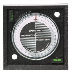 Dasco Pro - I1100-2VM - Inclinometer, Mag, 0-90 Deg, 4 In Base