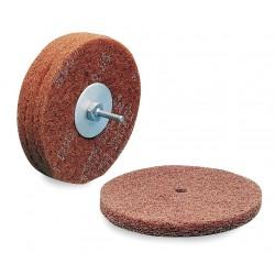 Scotch-Brite - 00666 - 6 Non-Woven Fiber Disc, 1/4 Mounting Hole Size, Very Fine Grit Aluminum Oxide, 1 EA