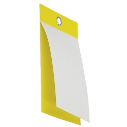 Badger Tag & Label - 131 - Blank Tag, Yellow, Height: 5 x Width: 3-5/32, 25 PK