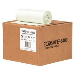Plastics Solutions - HB2636-8 - 20 gal. Green Compostable Trash Bags, Extra Heavy Strength Rating, Coreless Roll, 165 PK
