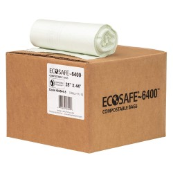 Plastics Solutions - HB2844-8 - 35 gal. Green Compostable Trash Bags, Extra Heavy Strength Rating, Coreless Roll, 135 PK