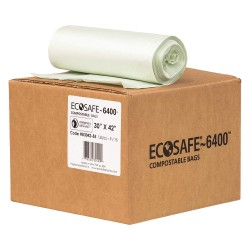 Plastics Solutions - HB3042-8 - 35 gal. Green Compostable Trash Bags, Extra Heavy Strength Rating, Coreless Roll, 135 PK
