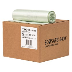 Plastics Solutions - HB3339-8 - 35 gal. Green Compostable Trash Bags, Extra Heavy Strength Rating, Coreless Roll, 135 PK