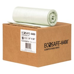 Plastics Solutions - HB3550-8 - 39 gal. Green Compostable Trash Bags, Extra Heavy Strength Rating, Coreless Roll, 90 PK