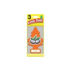 Car Freshener - U3S-32017 - Coconut Scented Air Freshener, Yellow; PK3