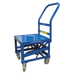 Other - BPCRT-B - Steel Raised Handle Utility Cart, 400 lb. Load Capacity, Number of Shelves: 1