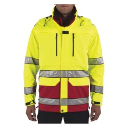 5.11 Tactical - 48198T - First Responder Jacket, LT Fits Chest Size 46, Hi-Visibility Range Red Color