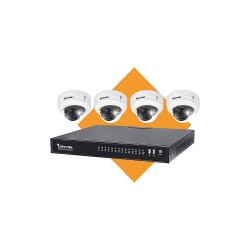 Vivotek - ND8322P-2TB-4FD3A - Vivotek ND8322P - DVR + camera(s) - wired - GbE - 8 channels - 1 x 2 TB - 4 camera(s) - dome - CMOS