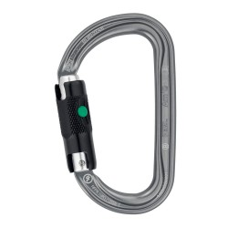 Petzl - M34A BL - Carabiner, Gray, Ball-Lock Type, 1 Opening