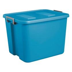 Sterilite - 17424306 - Storage Tote, Blue, 16-1/4H x 22-3/4L x 18-1/2W, 1EA