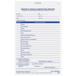 JJ Keller - 1098 - Simplified Vehicle Inspection Report