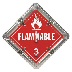 JJ Keller - 3659 - 14 x 1/2 Class 8, 3, 2, 6, 2, 5.1, 6 Aluminum Vehicle Placard, Multiple