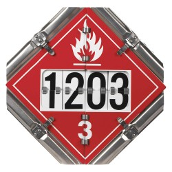 JJ Keller - 6943 - 14 x 1 Class 3, 8, 3, 2, 6, 9, 5.1, 6 Aluminum Vehicle Placard, Multiple