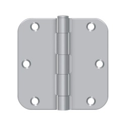 Deltana - S35R526D - 3-1/2 x 1-3/4 Butt Hinge with Satin Chrome Finish, Full Mortise Mounting, Rounded Corners