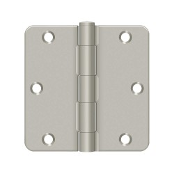 Deltana - S35R415 - 3-1/2 x 1-3/4 Butt Hinge with Satin Nickel Finish, Full Mortise Mounting, Rounded Corners