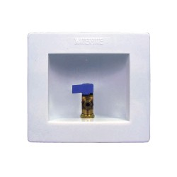 IPS Corporation - AB9700 - 8.25 x 6.13 Brass Washing Machine Outlet Box with PEX 1807 Inlet Connection