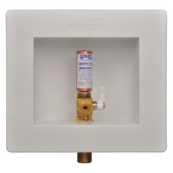IPS Corporation - AB9702HA - 5.75 x 4.88 Brass Ice Maker Outlet Box with Copper Sweat Inlet Connection